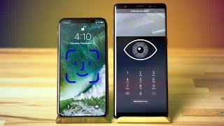 Face ID vs Iris Scanner & Face Recognition - iPhone X vs Note 8
