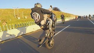 EPIC Highway Motorcycle WHEELIE Kawasaki Ninja 636 Freestyle Street Bike STUNTS TSR Stunt Ride 2017