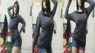 Hot & Beautiful Girl Dancing Alone in Her Room_ Girls Hostel
