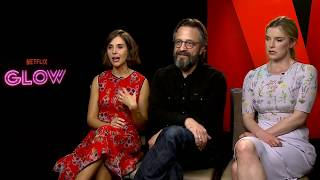 Glow Season 1 Alison Brie & Betty Gilpin & Marc Maron interview