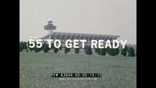 55 TO GET READY  1970s TWA FLIGHT FROM DULLES AIRPORT TO LOS ANGELES  63604