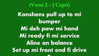 Konshens and J Capri - Pull up to mi bumper (lyrics)