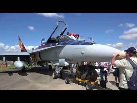 RAAF 'Worimi' Livery F/A-18 Hornet at Avalon 2015