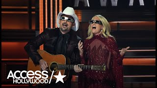 Carrie Underwood & Brad Paisley Zing Donald Trump, Hillary Clinton & Country Stars On CMA Stage