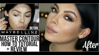 NEW! MAYBELLINE NY MASTER CONTOUR STICK | TUTORIAL + REVIEW | SCCASTANEDA