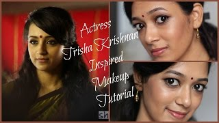 South Indian Actress Trisha Krishnan Inspired Makeup Tutorial | Yennai Arindhaal | Beauty5 | By Dhiv