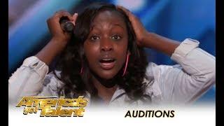"Flau'jae: 14-Year-Old Rapper's PLEA To America ""Put Your Guns Down!"" | America's Got Talent 2018"