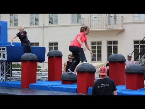 Anna Faris and Allison Janney Ninja Warriors