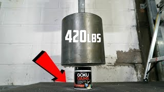 EXPERIMENT: World's HEAVIEST Dumbbell (420lbs) vs Goku Gains Pre-Workout!