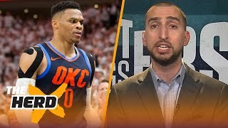 Nick Wright finally agrees with Colin about Russell Westbrook, talks future of the East   THE HERD