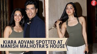 Kiara Advani Spotted At Manish Malhotra's House