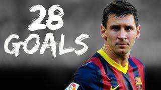 Lionel Messi All 28 La Liga Goals 2013 - 2014 || HD ||