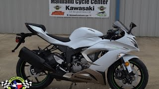 $11,699:  2017 Kawasaki ZX6R 636 Ninja Pearl Blizzard White Overview and Review