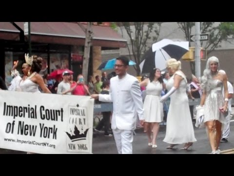 QUEENS LGBT PRIDE PARADE 2016 Imperial Court of NY Big Apple Corps MARCHING BAND
