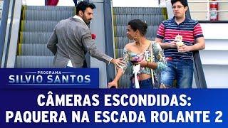 Paquera na Escada Rolante 2 - Love Escalator Prank 2   Câmeras Escondidas (23/07/17)
