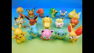 2016 POKEMON SET OF 16 McDONALDS HAPPY MEAL KIDS TOYS VIDEO REVIEW (EUROPE)