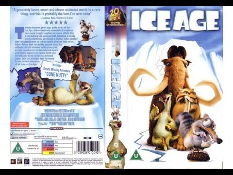 Original VHS Opening Ice Age 2002 UK Rental Tape