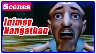 Inimey Naangathaan Tamil Movie | Scenes | Vichu fights with Rakshas and takes Rudraksh chain