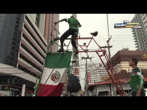 Pedalearon desde México hasta Brasil por el Tri