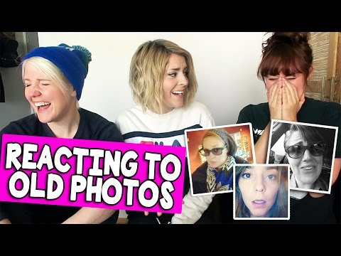 REACTING TO OLD PHOTOS w HANNAH & MAMRIE Grace Helbig