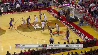 LSU vs Texas Tech Basketball Highlights 1-28-17
