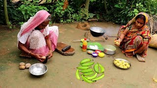 Bangali Kancha KOLAR KOFTA Recipe   Raw Banana Kofta Curry Prepared By Grandmother- Village Food