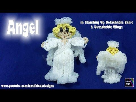 Rainbow Loom Angel Action Figure/Charm - Stand Up/Detachable Skirt & Detachable Wings - Gomitas