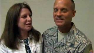 U.S. Air Force Senior Master Sergeant Surprises Wife at Work