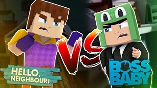 Minecraft BIG BAD BABY - SCUBA STEVE IS THE HELLO NEIGHBOUR VS BOSS BABY!!!