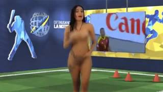 Venezuelan Reporter Gets Naked to Report Copa America on LIVE TV