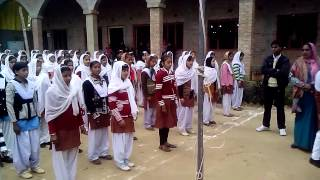 Flag Song by Momin Ansar. Girls Inter College, Mau