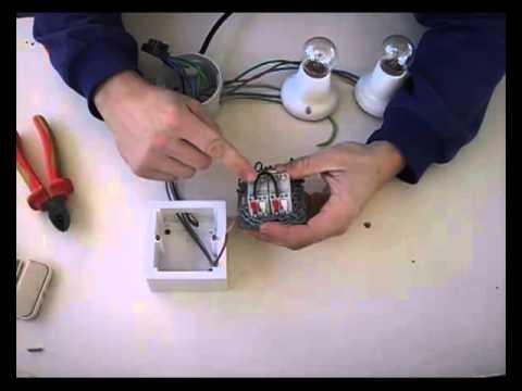 Instalación de interruptor doble a dos puntos de luz.