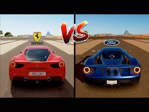 Ferrari  Gtb Vs Ford Gt  Drag Race Forza Horizon  Gameplay Hd