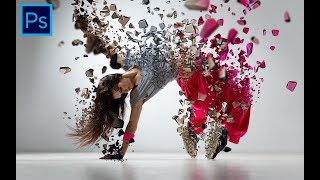 How to Create 3D Particle Dispersion Effect in Photoshop ( Free Action Download )