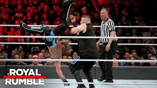 AJ Styles hits an amazing Pelé Kick on Kevin Owens: Royal Rumble 2018 (WWE Network Exclusive)