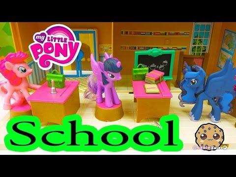 MLP School with Pinkie Pie Twilight and Princess Luna My Little Pony Classroom Cookieswirlc