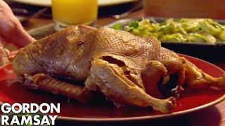 Crispy Roast Duck Pancakes with Black Bean Dipping Sauce | Gordon Ramsay