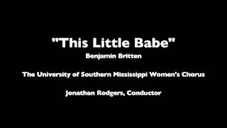 This Little Babe - Benjamin Britten