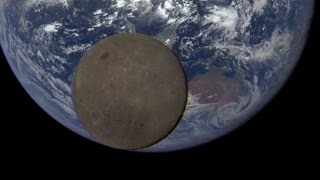 Satellite Catches the Moon Dancing in Front of Earth | Video