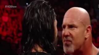 Goldberg vs Roman Reigns vs Braun Strowman | WWE Raw 2 January 2017