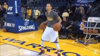 Stephen Curry 2 ball pre game ball handling warm up