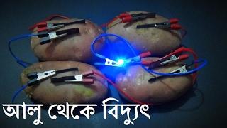 আলু থেকে বিদ্যুৎ উৎপাদন - Produce Electricity from Potato - Bengali (বাংলা)