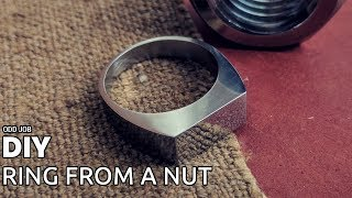 DIY ring from a nut (with common tools)