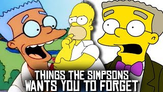 10 Things The Simpsons Wants You To FORGET About!
