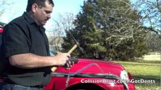 Fixing Dents: Using a (Hammer and Dolly Dent Repair) - Hammer Off Dolly Technique