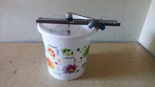 Home made washing machine with 12v DC power