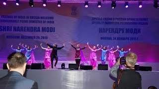 Mayuri welcomes PM of India Narendra Modi in Moscow, 24 December 2015 by superb bhangra