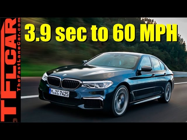 All-New 2017 BMW 5 Series Can Hit 60 MPH in 3.9 Seconds
