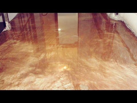 Tutorial de piso epóxi metalizado Ouro e Cobre.