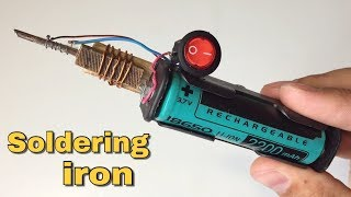 How to Make a Mini Soldering iron Tool